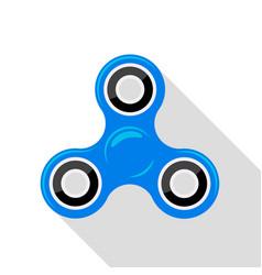 flat design blue hand spinner no gradient vector image