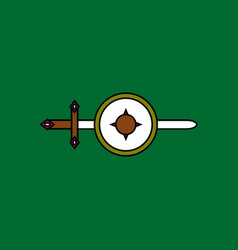 Flat icon design collection sword and shield vector