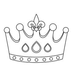 fleur de lis crown vector image