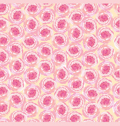 floral seamless pattern flower background bloom vector image