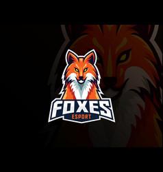 Fox mascot sport logo design vector