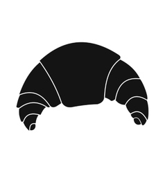 Fresh croissant icon simple style vector image