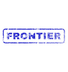 Frontier rubber stamp vector
