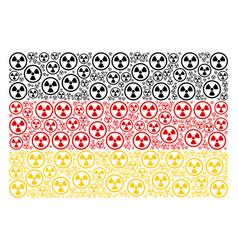 german flag mosaic of radioactive items vector image