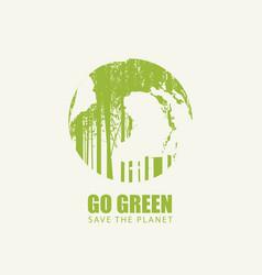 Go green eco poster concept save planet vector