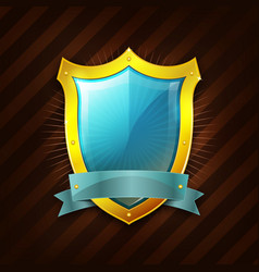 gold security shield icon vector image