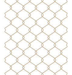 golden wire seamless mesh eps 10 vector image