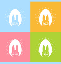 happy easter day bunny easter celebration poster vector image