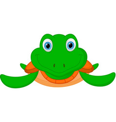 Happy turtle cartoon vector