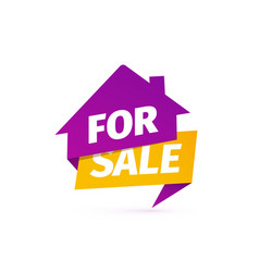 house for sale icon selling apartments vector image