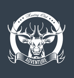 Hunting club or hunt adventure logo template vector