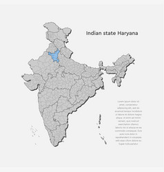 India country map haryana state template concept vector