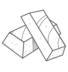 Ingots of gold black and white for a coloring vector