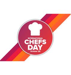 International chefs day october 20 holiday vector