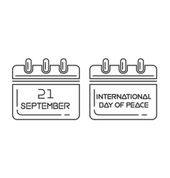 international day of peace wall calendar vector image