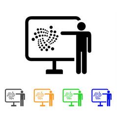 Iota project presentation icon vector