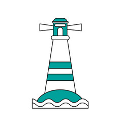 island beach lighthouse vector image