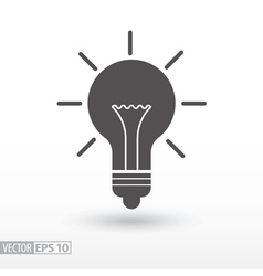 Lamp - flat icon vector image