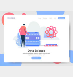 landing page template data science concept vector image