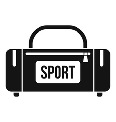 Large sports bag icon simple style vector image