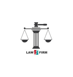 Law logo template vector
