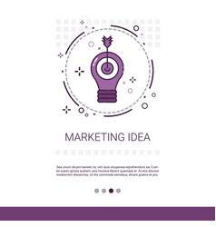 Marketing vision business idea banner with copy vector
