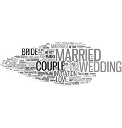 Married word cloud concept vector