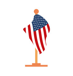 memorial day flag in stand sign american vector image