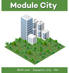 modern 3d city isometric vector image