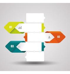 Modern design layout - paper progress steps vector