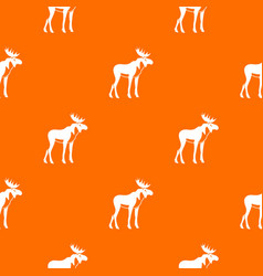 moose pattern seamless vector image