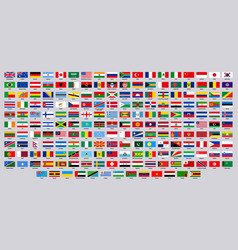national flags world countries flag emblems vector image