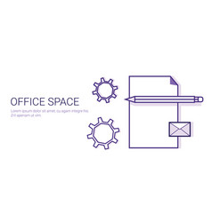 office space business concept coworking center vector image