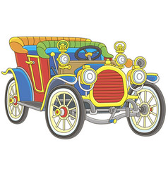 old toy vintage car vector image