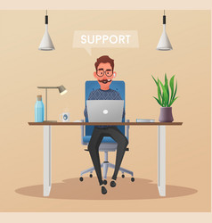 online support 24 hours vector image