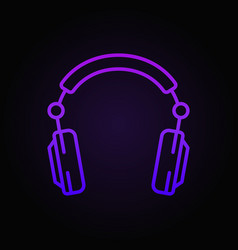 Over-ear headphones colored outline concept vector