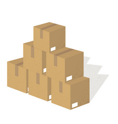 packing boxes vector image