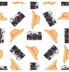 Photo camera background colorful seamless vector