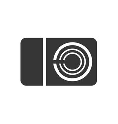 photo camera glyph single isolated icon vector image