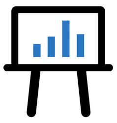presenting statistics report icon vector image