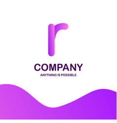 r company logo design with purple theme vector image