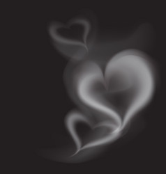 realistic smoke heart vector image