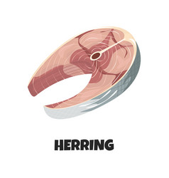 Realistic steak herring vector