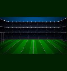 Rugby football stadium vector