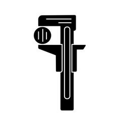 ruler - wrenches icon black vector image