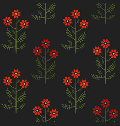Seamless colorful graphical chamomile pattern vector