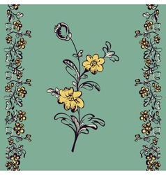seamless floral pattern flower vector image