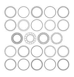 Set of round decorative patterns framework vector