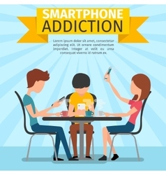 Smartphone social media and internet addiction vector image