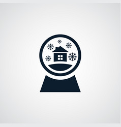 snowglobe icon simple winter sign vector image